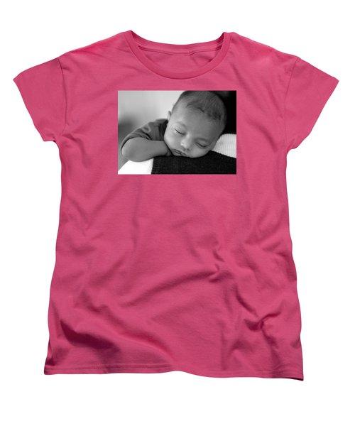 Baby Sleeps Women's T-Shirt (Standard Cut) by Lisa Phillips
