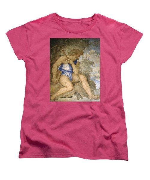 Baldassare Peruzzi 1481-1536. Italian Architect And Painter. Villa Farnesina. Polyphemus. Rome Women's T-Shirt (Standard Cut) by Baldassarre Peruzzi