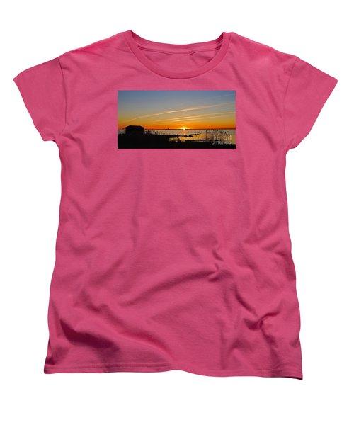 Women's T-Shirt (Standard Cut) featuring the photograph Baltic Sea Sunset by Kennerth and Birgitta Kullman