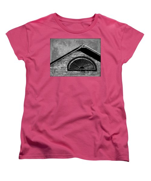 Women's T-Shirt (Standard Cut) featuring the photograph Barn Detail - Black And White by Joseph Skompski