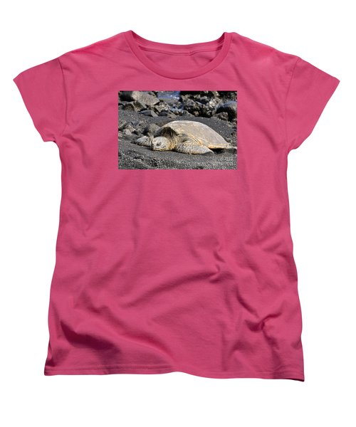 Women's T-Shirt (Standard Cut) featuring the photograph Basking In The Sun by David Lawson