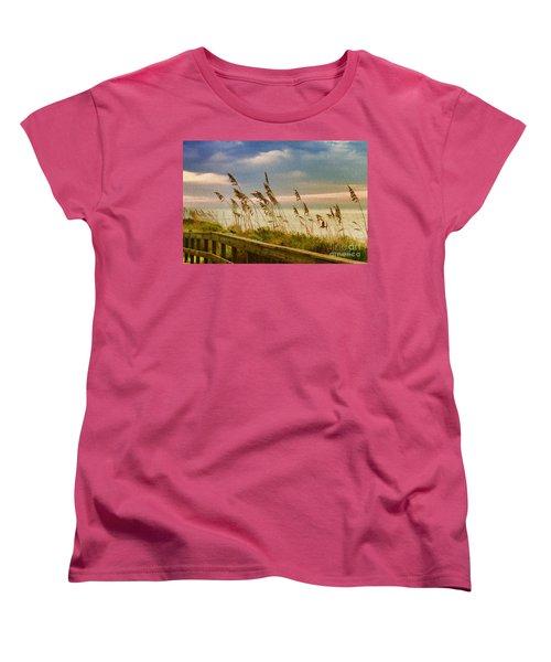 Beach Grass Women's T-Shirt (Standard Cut) by Deborah Benoit