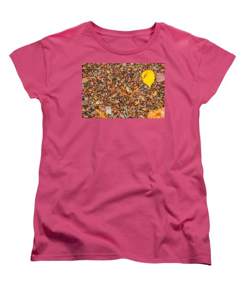Beach Pebbles Of Montana Women's T-Shirt (Standard Cut) by Brenda Jacobs