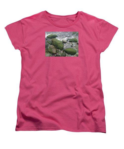 Women's T-Shirt (Standard Cut) featuring the photograph Beach Rocks by Robert Nickologianis