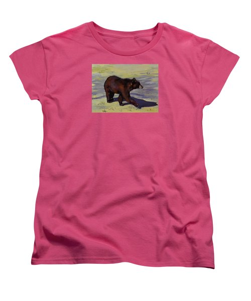 Women's T-Shirt (Standard Cut) featuring the painting Bear Shadows by Pattie Wall