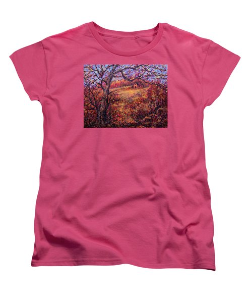 Women's T-Shirt (Standard Cut) featuring the painting Beautiful Autumn by Natalie Holland