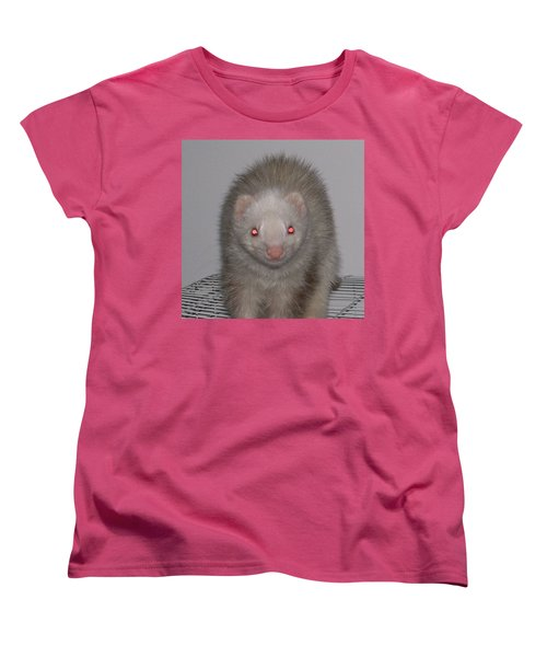 Women's T-Shirt (Standard Cut) featuring the photograph Beautiful Panda Ferret by Belinda Lee