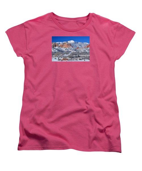 Beautiful Winter Garden Of The Gods Women's T-Shirt (Standard Cut) by John Hoffman