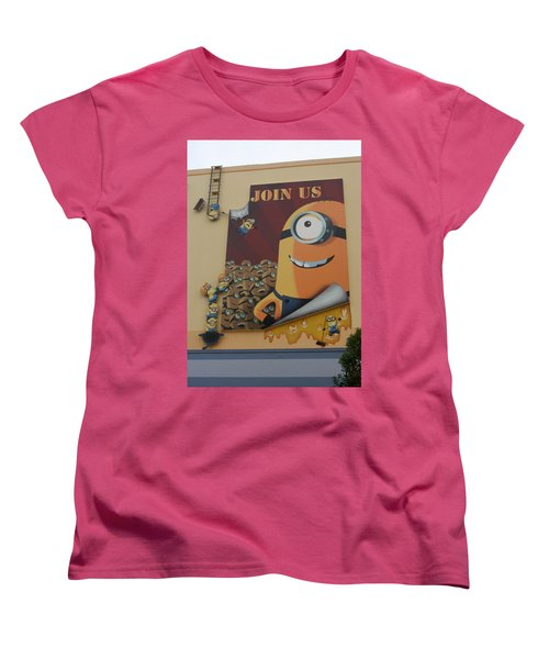 Become A Minion Women's T-Shirt (Standard Cut) by David Nicholls