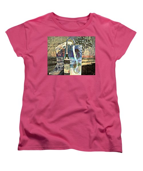 Women's T-Shirt (Standard Cut) featuring the mixed media Beer On Tap by Ally  White
