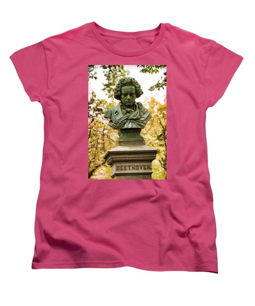 Beethoven In Central Park Women's T-Shirt (Standard Cut) by Alice Gipson