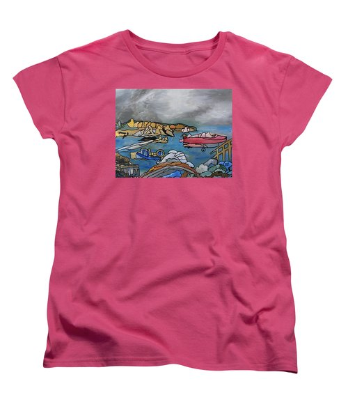 Women's T-Shirt (Standard Cut) featuring the painting Before The Storm by Barbara St Jean