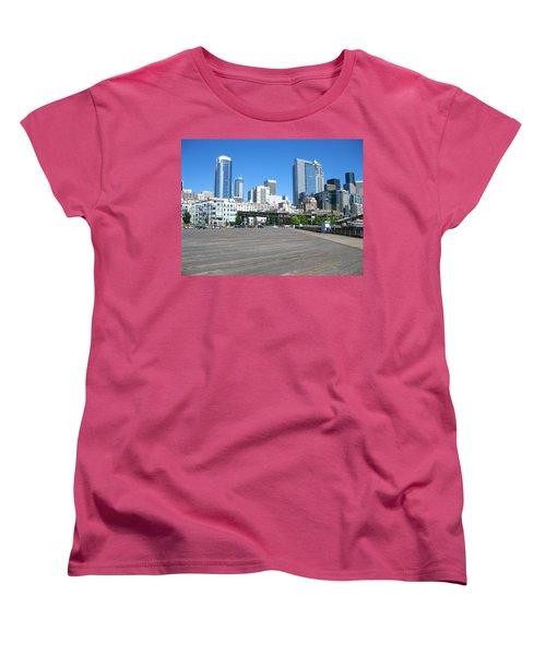 Below The Line Women's T-Shirt (Standard Cut) by David Trotter