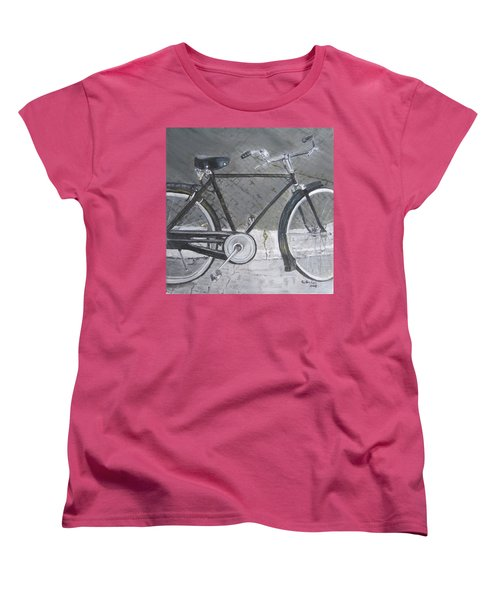 Bicycle In Rome Women's T-Shirt (Standard Cut) by Claudia Goodell