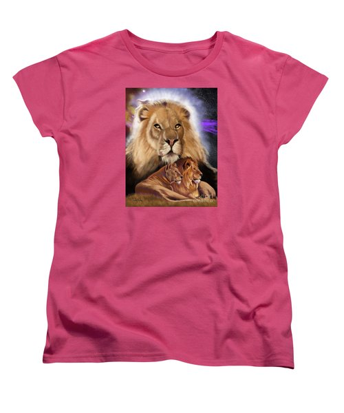 Third In The Big Cat Series - Lion Women's T-Shirt (Standard Cut) by Thomas J Herring