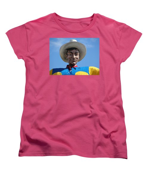 Women's T-Shirt (Standard Cut) featuring the photograph Big Tex by Charlie and Norma Brock