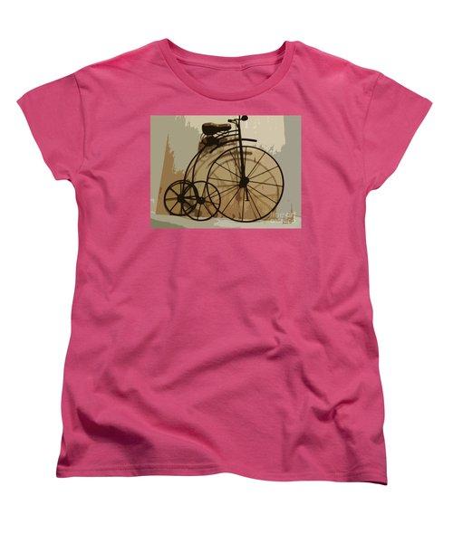 Women's T-Shirt (Standard Cut) featuring the photograph Big Wheel Trike by Ecinja Art Works