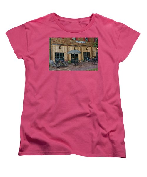 Bike Shop Cafe Katty Trail St Charles Mo Dsc00860 Women's T-Shirt (Standard Cut) by Greg Kluempers