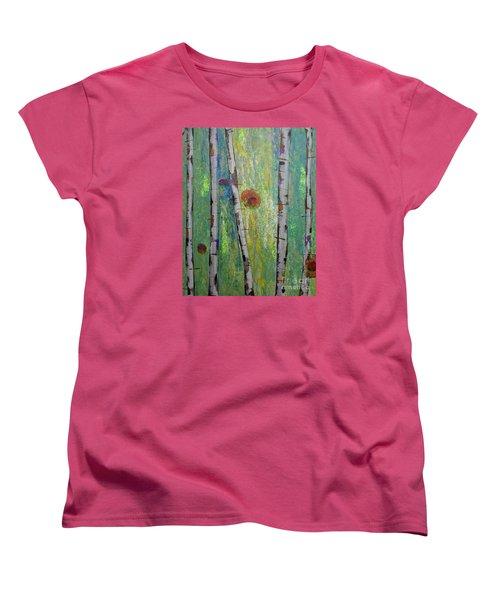 Birch - Lt. Green 5 Women's T-Shirt (Standard Cut) by Jacqueline Athmann