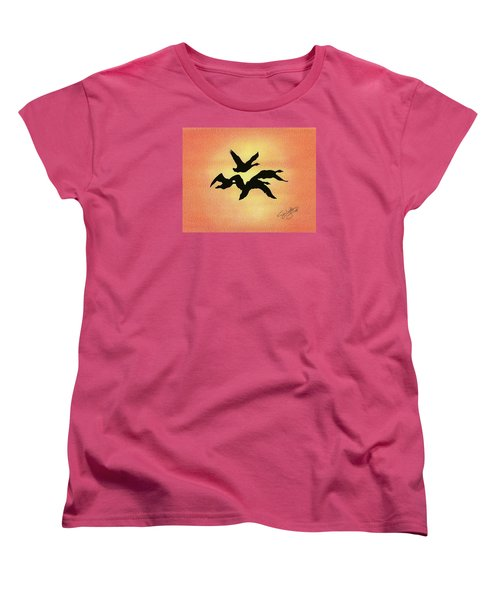 Birds Of Flight Women's T-Shirt (Standard Cut) by Troy Levesque