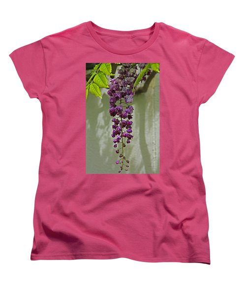 Black Dragon Wisteria Women's T-Shirt (Standard Cut) by Suzanne Stout