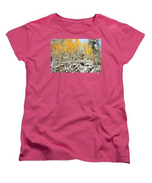 Black Hills Boulders Women's T-Shirt (Standard Cut) by Clarice  Lakota