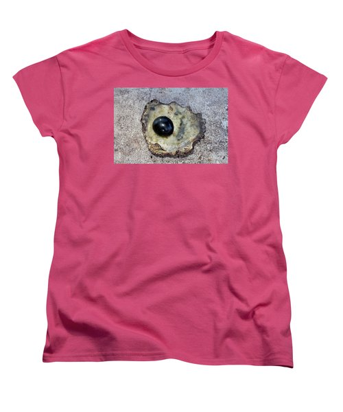 Black Pearl Women's T-Shirt (Standard Cut) by Sergey Lukashin