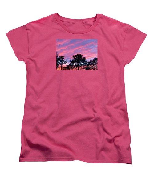 Women's T-Shirt (Standard Cut) featuring the photograph Blazing Pines by Joy Hardee