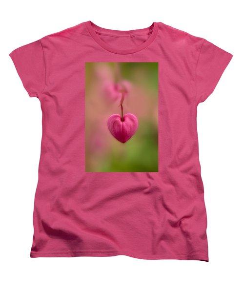 Bleeding Heart Flower Women's T-Shirt (Standard Cut) by Jaroslaw Blaminsky