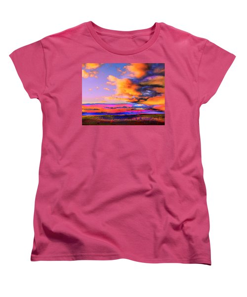 Blinn Hill View Women's T-Shirt (Standard Cut) by Expressionistart studio Priscilla Batzell