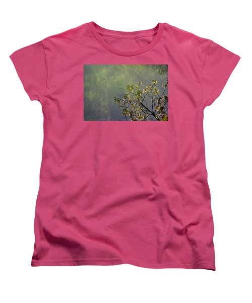 Women's T-Shirt (Standard Cut) featuring the photograph Blossom Reflection by Marilyn Wilson