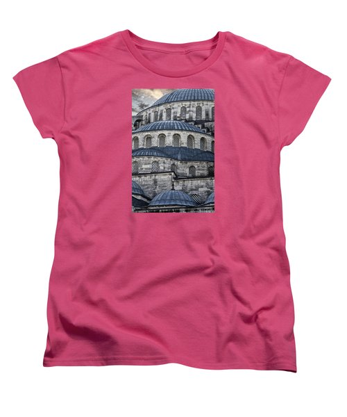 Blue Dawn Blue Mosque Women's T-Shirt (Standard Cut) by Joan Carroll