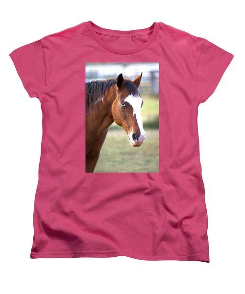 Women's T-Shirt (Standard Cut) featuring the photograph Blue Eyes by Gordon Elwell