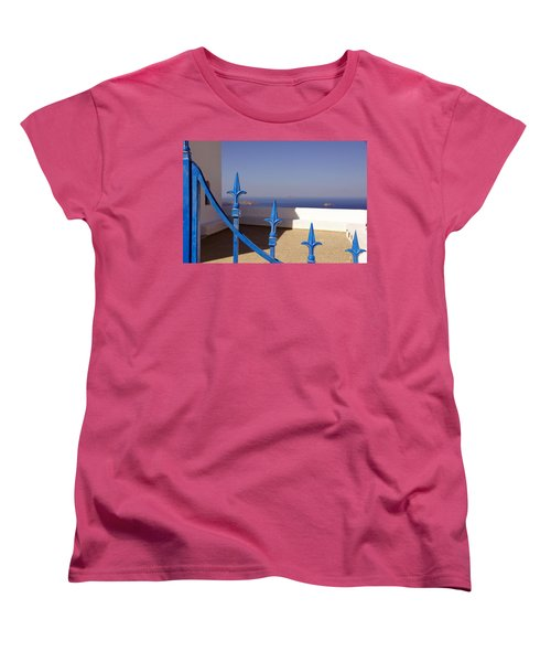 Blue Gate Women's T-Shirt (Standard Cut) by Debi Demetrion
