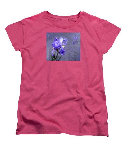 Blue Iris Women's T-Shirt (Standard Cut) by Lena Auxier