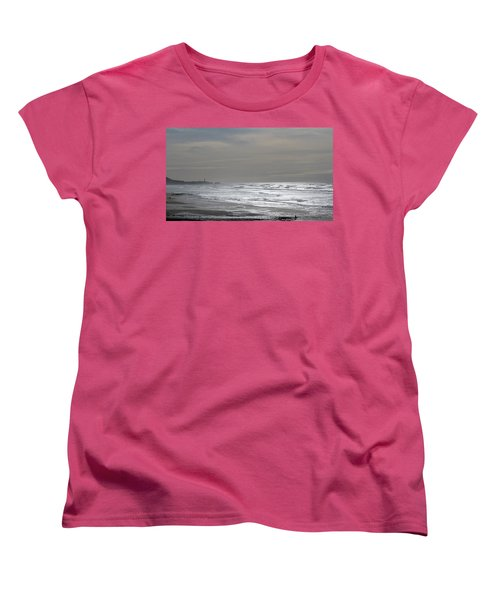Women's T-Shirt (Standard Cut) featuring the photograph Blue Lighthouse View by Susan Garren