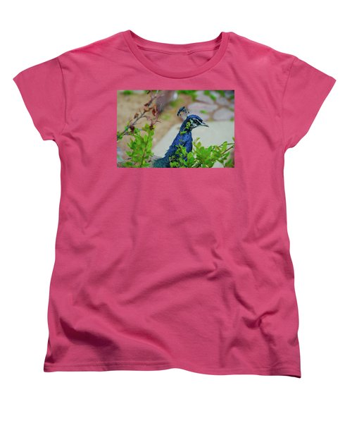 Blue Peacock Green Plants Women's T-Shirt (Standard Cut) by Jonah  Anderson