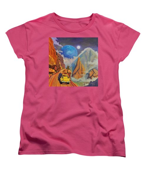 Women's T-Shirt (Standard Cut) featuring the painting Cliff House by Art James West