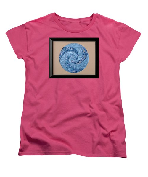 Women's T-Shirt (Standard Cut) featuring the mixed media Blue Pool by Ron Davidson