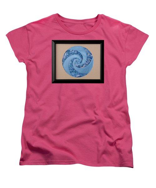 Blue Pool Women's T-Shirt (Standard Cut) by Ron Davidson