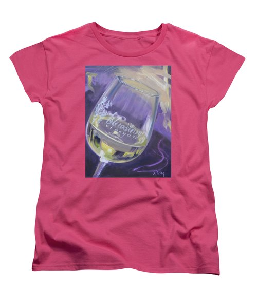 Bluestone Vineyard Wineglass Women's T-Shirt (Standard Cut)