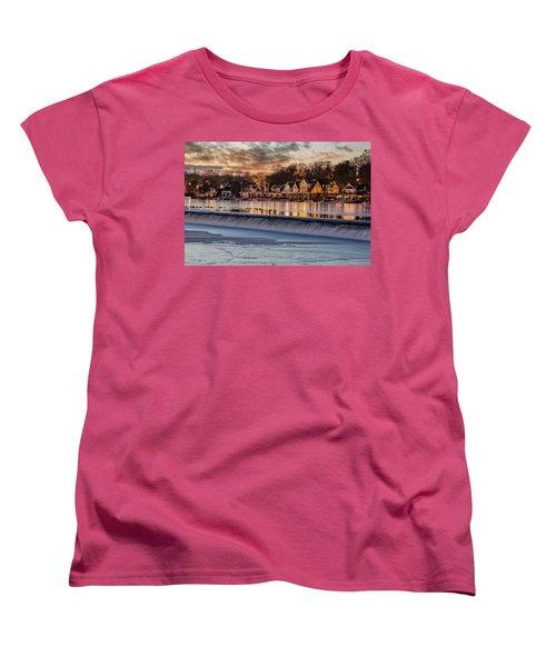 Boathouse Row Philadelphia Pa Women's T-Shirt (Standard Cut) by Susan Candelario
