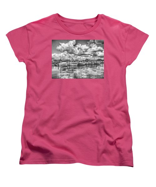 Women's T-Shirt (Standard Cut) featuring the photograph Boats by Howard Salmon