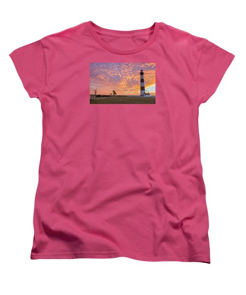 Bodie Island Lighthouse At Sunrise Women's T-Shirt (Standard Cut) by Photographic Arts And Design Studio