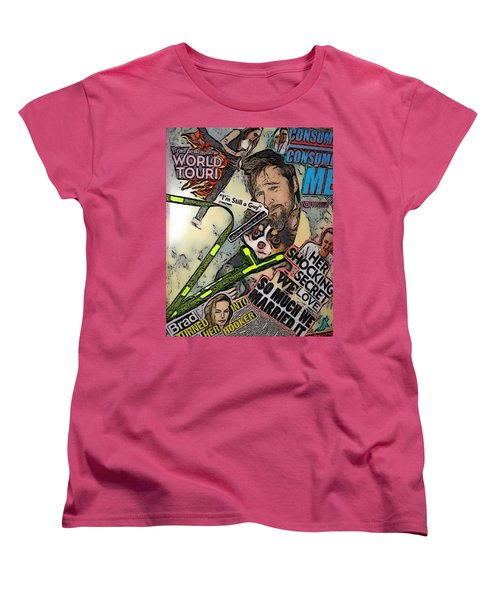 Women's T-Shirt (Standard Cut) featuring the digital art Bradgelina Pit by Lisa Piper
