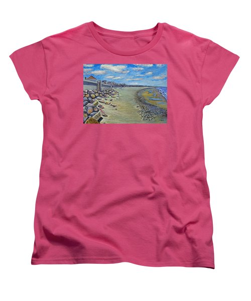 Brant Rock Beach Women's T-Shirt (Standard Cut) by Rita Brown