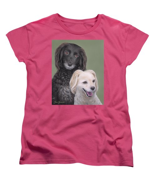 Women's T-Shirt (Standard Cut) featuring the painting Brea And Randy by Jane Girardot