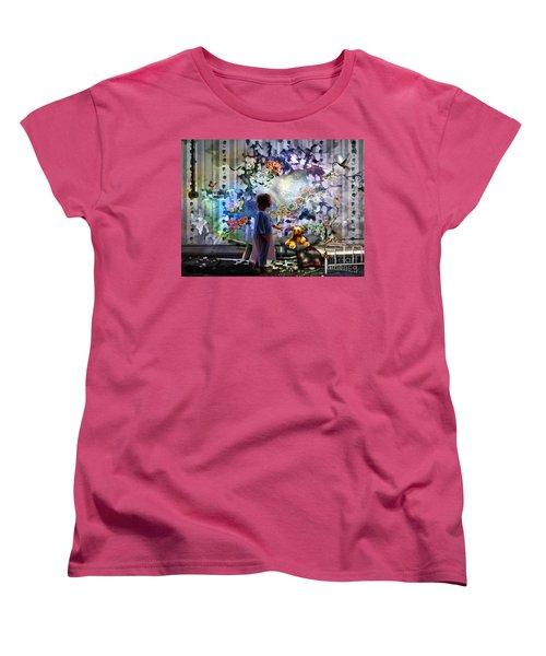Break Through Women's T-Shirt (Standard Cut) by Dolores Develde