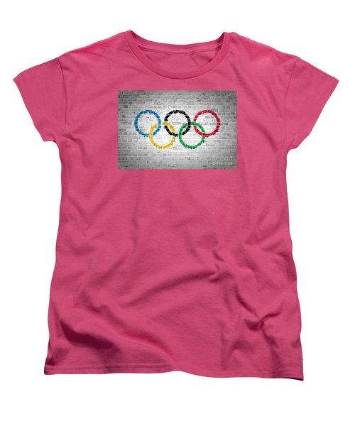 Brick Wall Olympic Movement Women's T-Shirt (Standard Cut) by Antony McAulay