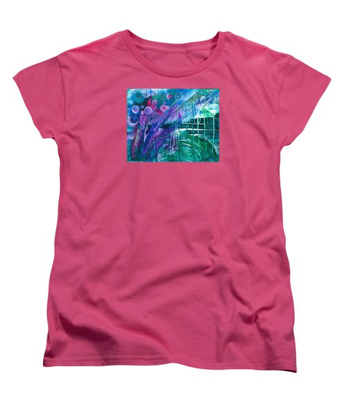 Women's T-Shirt (Standard Cut) featuring the painting Bridge Park by Adria Trail